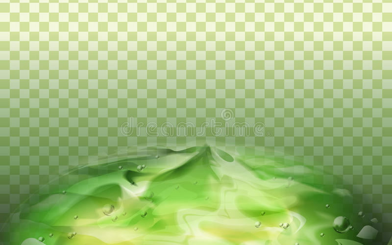 Élément vert de gel illustration de vecteur