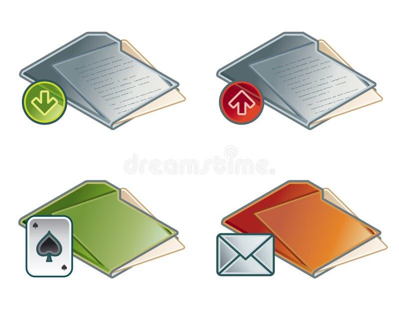 Éléments 45b de conception. Positionnement de graphisme de dépliants illustration stock