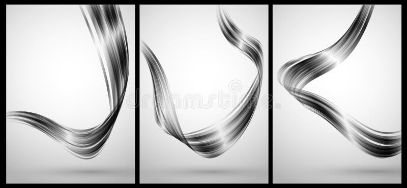 Éléments abstraits de chrome pour le fond illustration de vecteur