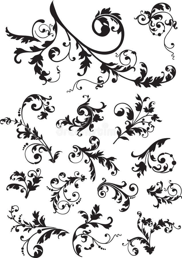 Éléments abstraits de conception illustration de vecteur