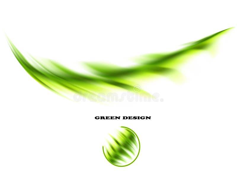Éléments abstraits verts illustration de vecteur