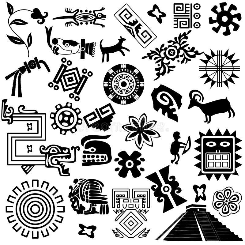 Éléments américains antiques de conception illustration de vecteur