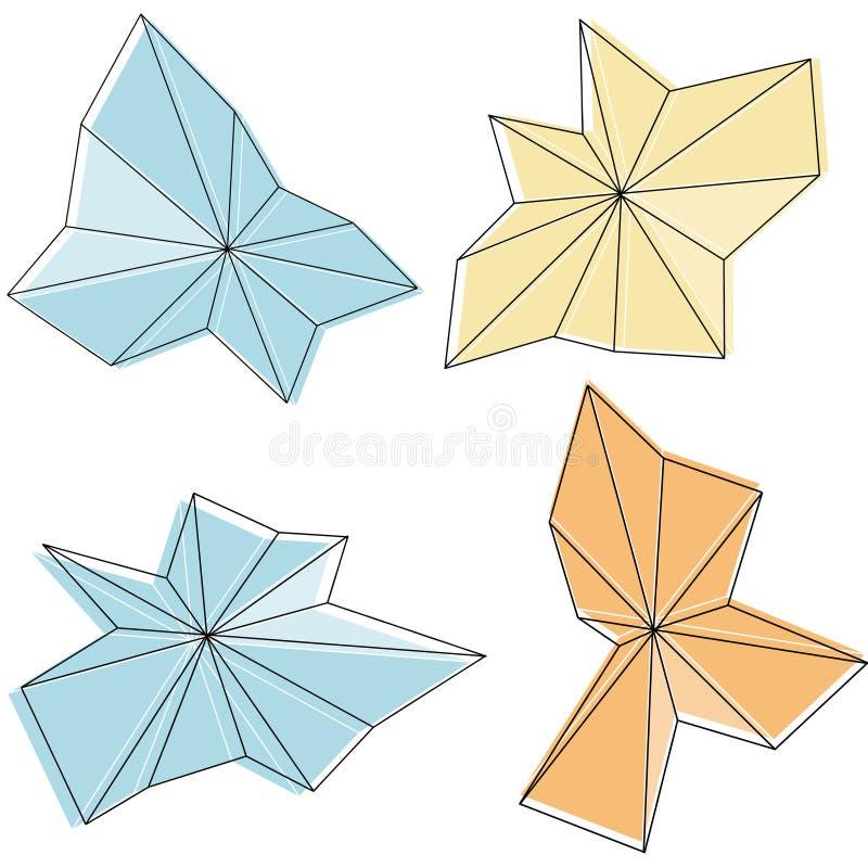 Éléments asymétriques abstraits de conception illustration stock