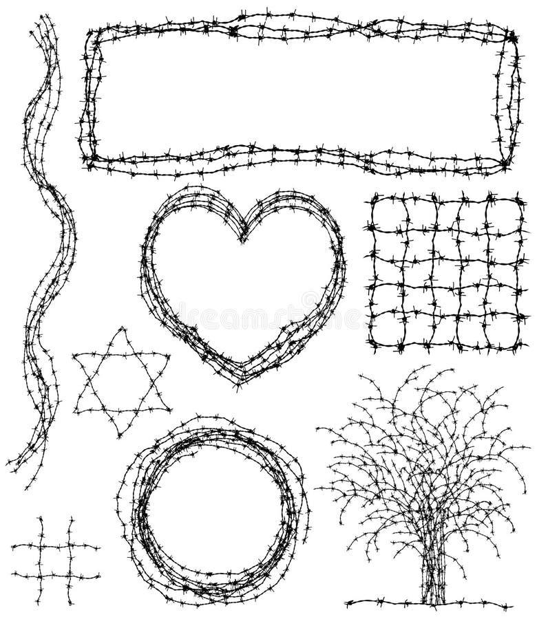 Éléments barbelés illustration de vecteur