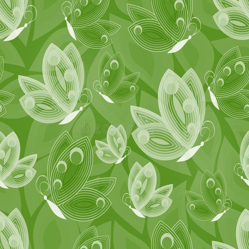 Download Éléments Blancs D'ensemble De Papillon Sur Le Fond Vert Illustration Stock - Illustration du couleur, vert: 56485248