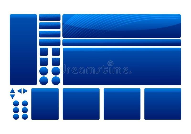 Éléments bleus de descripteur illustration de vecteur