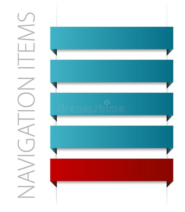 Éléments bleus modernes de navigation illustration de vecteur