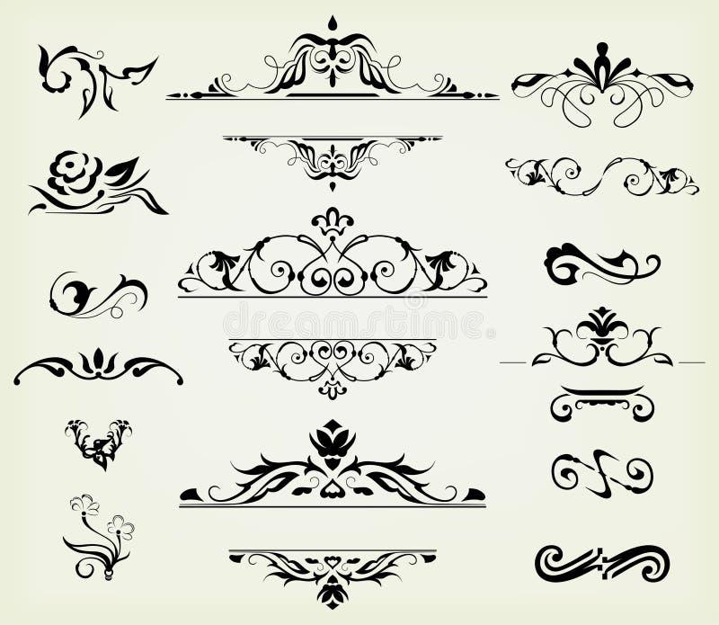Éléments calligraphiques de conception illustration de vecteur