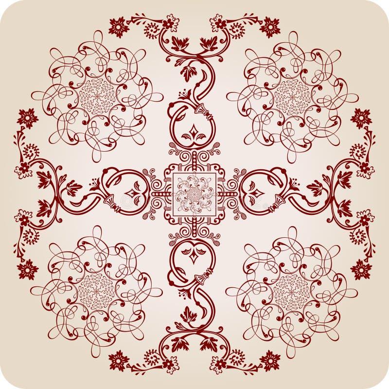 Éléments calligraphiques de Florel. ornement de cru illustration libre de droits
