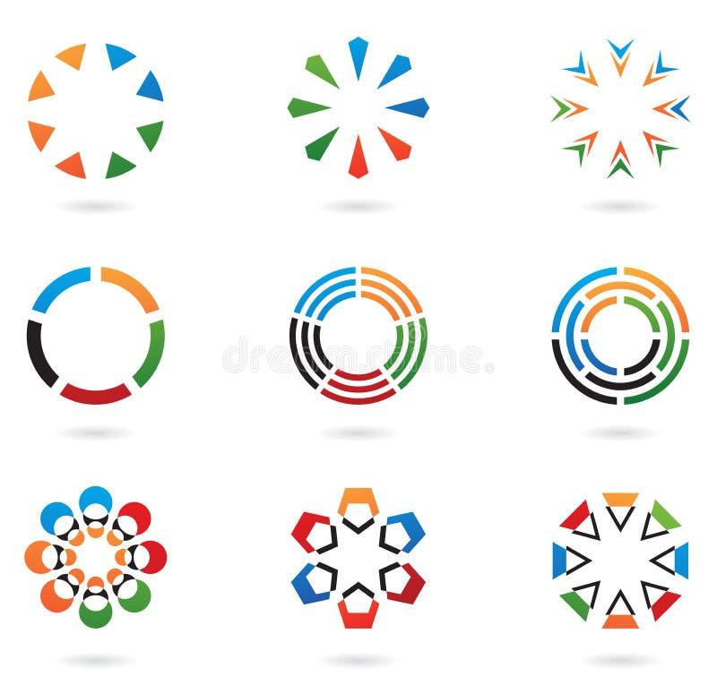 Éléments colorés 02 de conception illustration stock