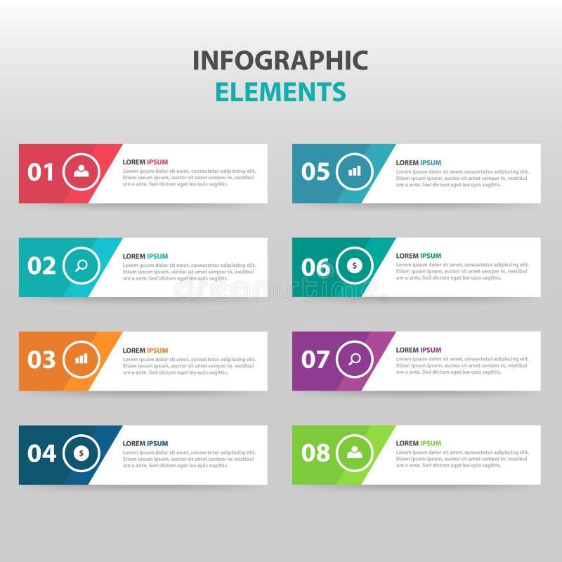 Éléments colorés abstraits d'Infographics d'affaires d'étape du cercle 4, illustration plate de vecteur de conception de calibre  illustration de vecteur