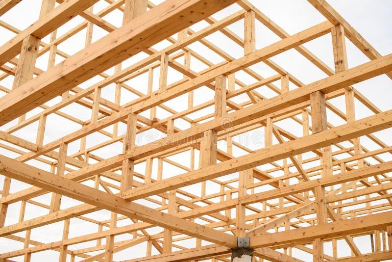 Éléments constituant le toit de la pagoda de Japonais de faisceaux en bois photographie stock