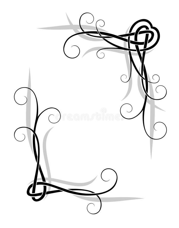 Éléments décoratifs illustration stock