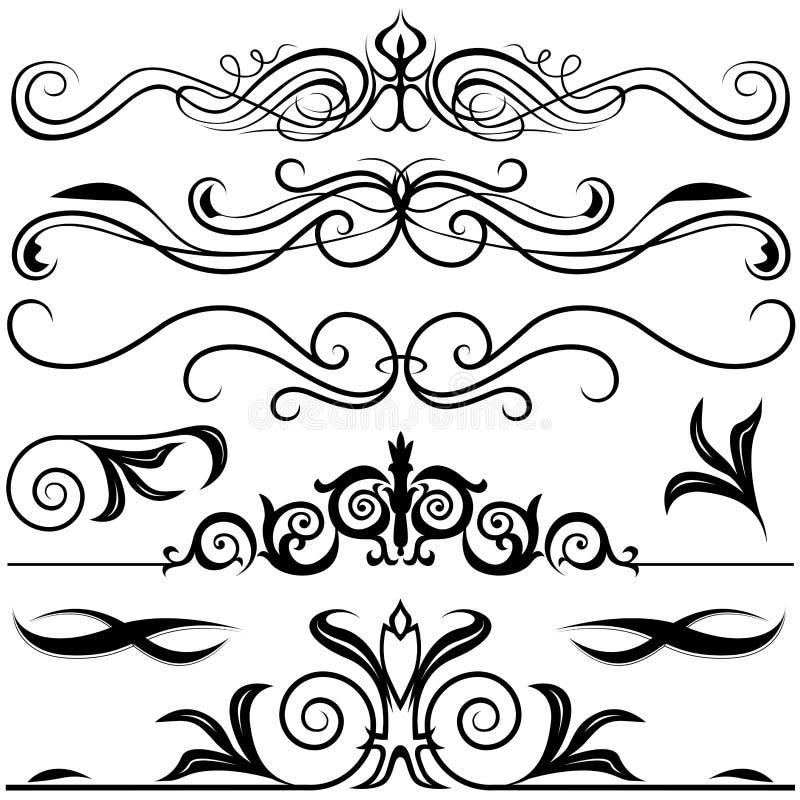 Éléments décoratifs A illustration de vecteur