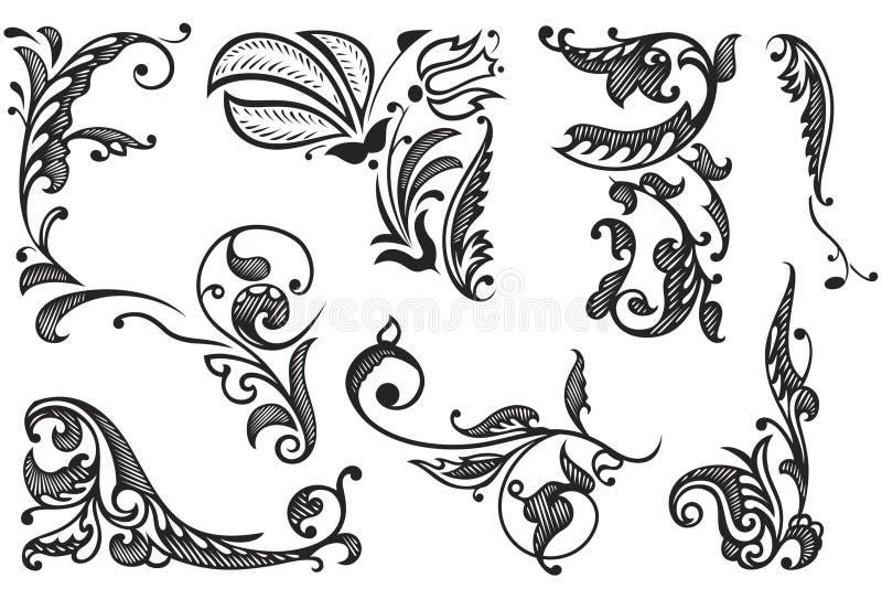Éléments décoratifs de conception illustration de vecteur