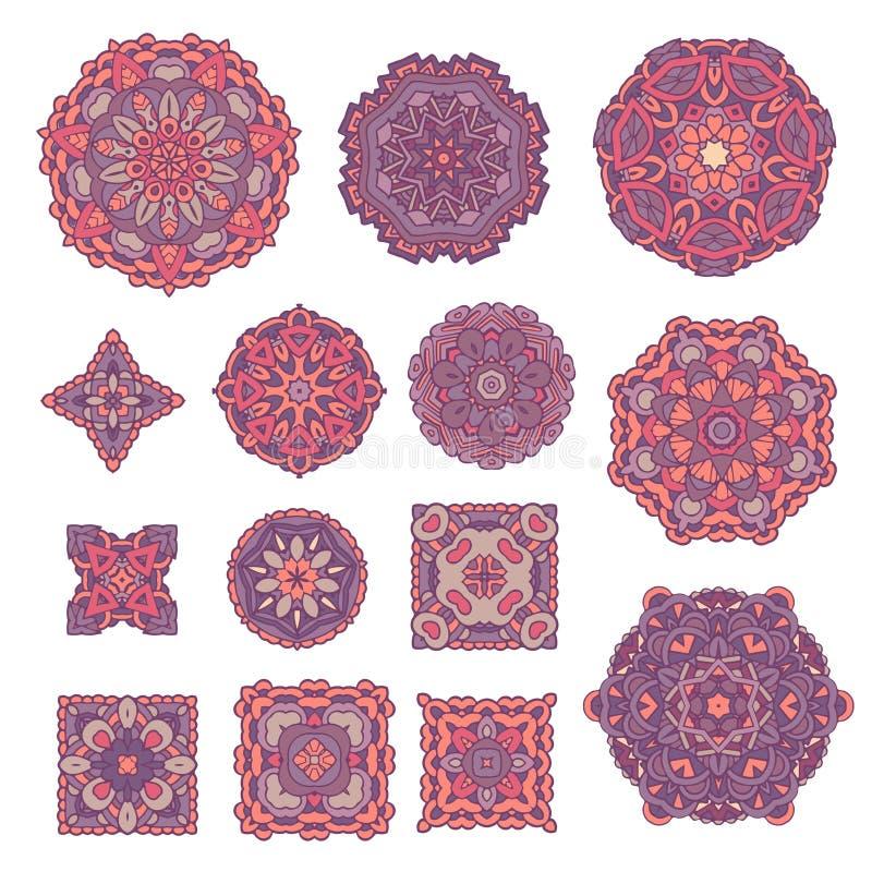 Éléments décoratifs de cru Modèle oriental, illustration de vecteur illustration libre de droits
