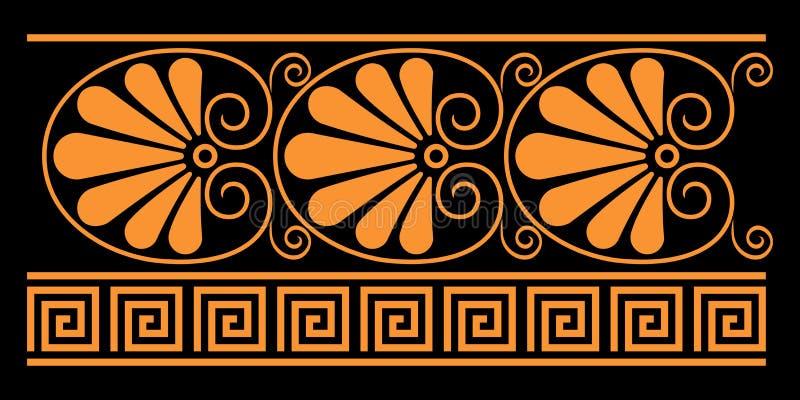 Éléments décoratifs du grec ancien illustration de vecteur