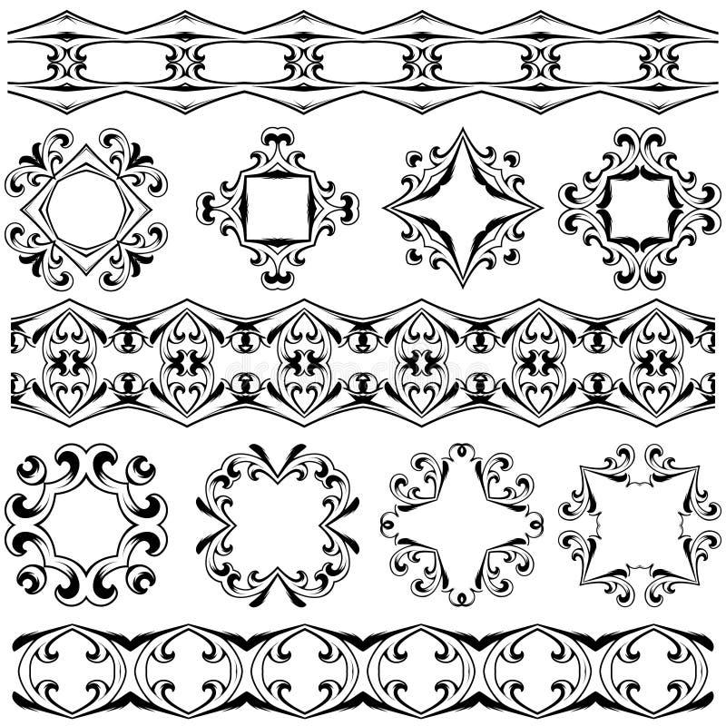 Éléments décoratifs réglés de conception illustration libre de droits