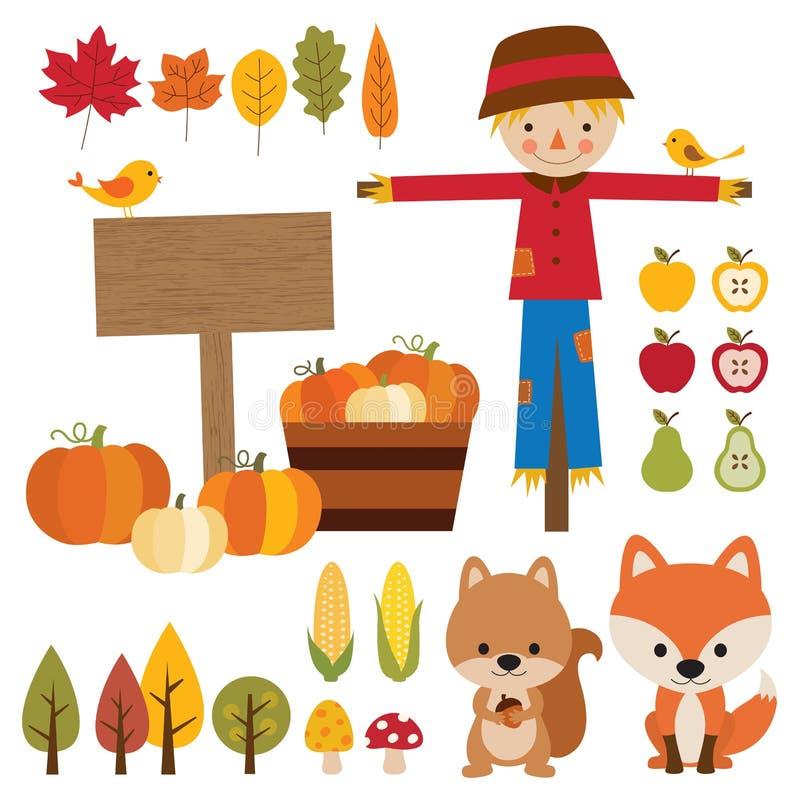 Éléments d'automne illustration de vecteur
