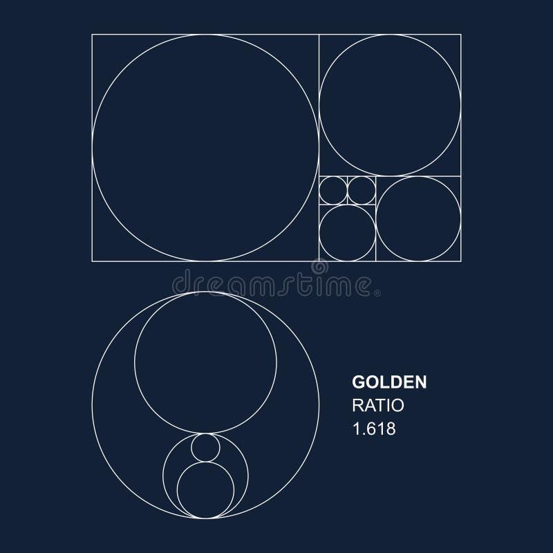 Éléments d'or de vecteur de rapport pour des concepteurs illustration de vecteur