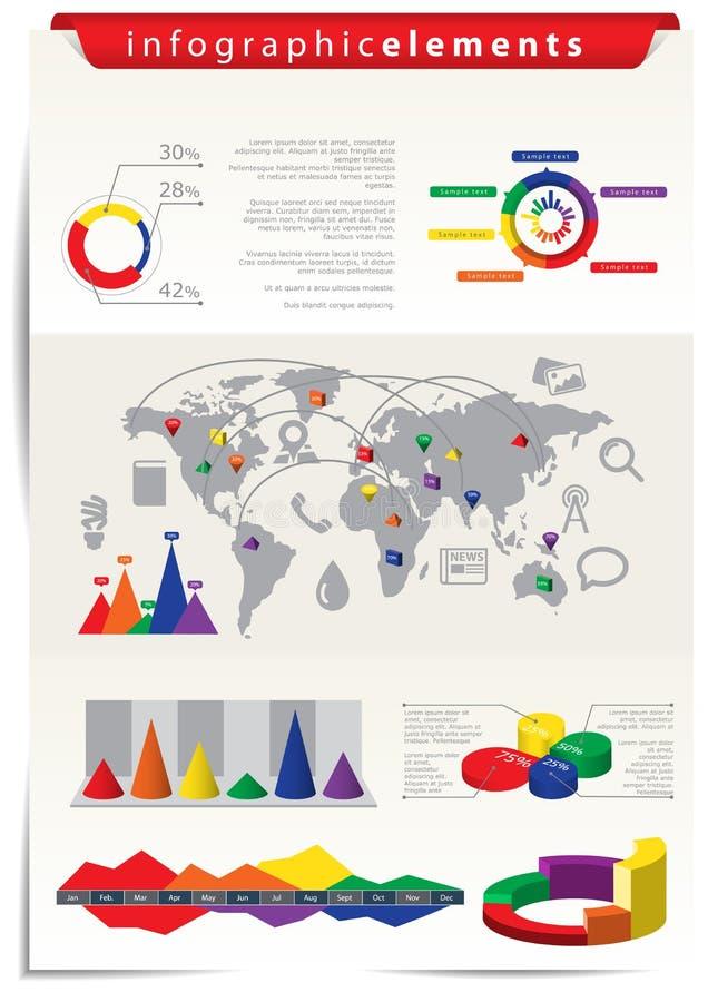 Éléments d'Infographic illustration libre de droits