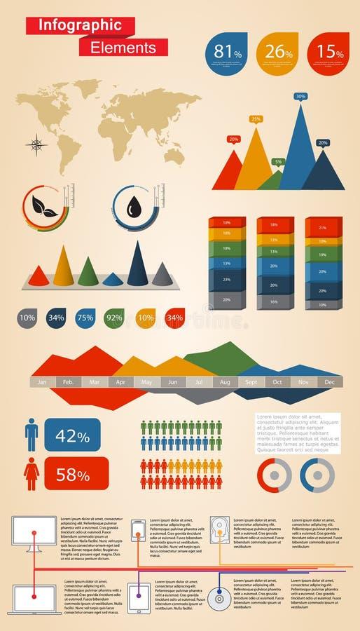 Éléments d'Infographic illustration de vecteur
