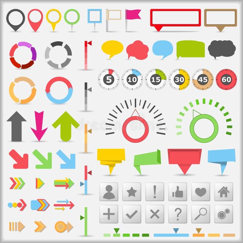 Éléments d'Infographic illustration stock