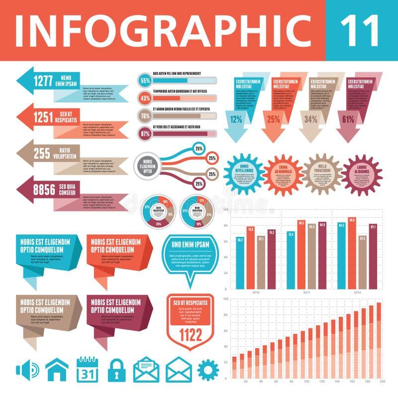 Éléments 11 d'Infographic illustration libre de droits
