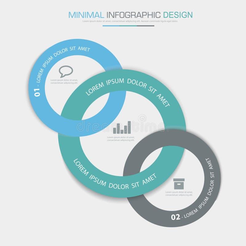 Éléments d'Infographic avec l'icône d'affaires sur le processus en arrière plan ou les étapes et les diagrammes polychromes de dé illustration de vecteur