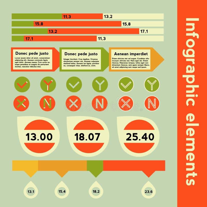 Éléments d'Infographic avec l'information différente photographie stock