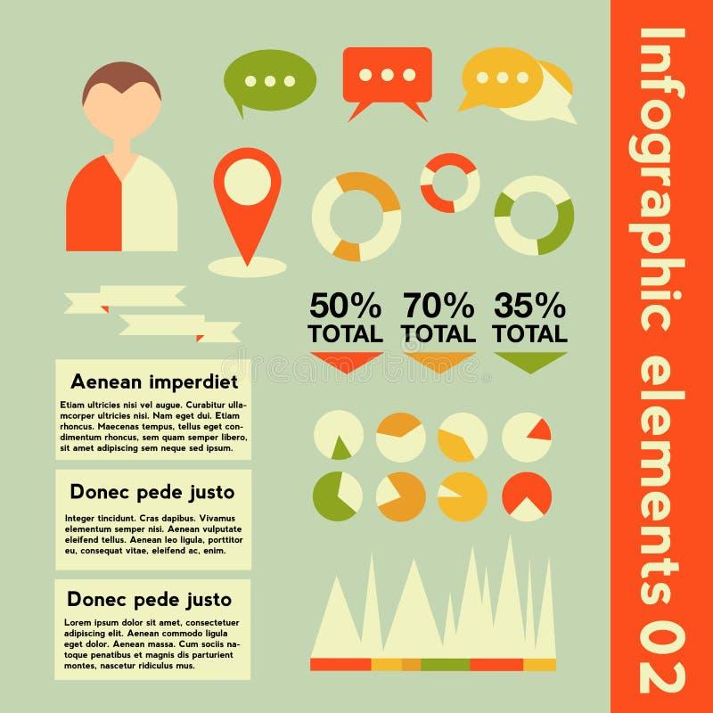 Éléments d'Infographic avec l'information différente photos stock