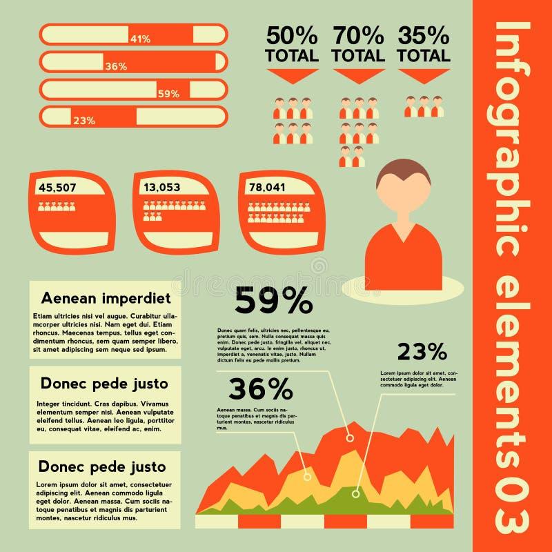 Éléments d'Infographic avec l'information différente photos libres de droits