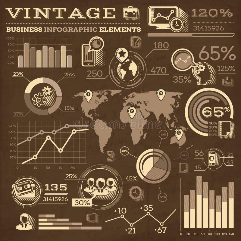 Éléments d'Infographic d'affaires de vintage illustration libre de droits