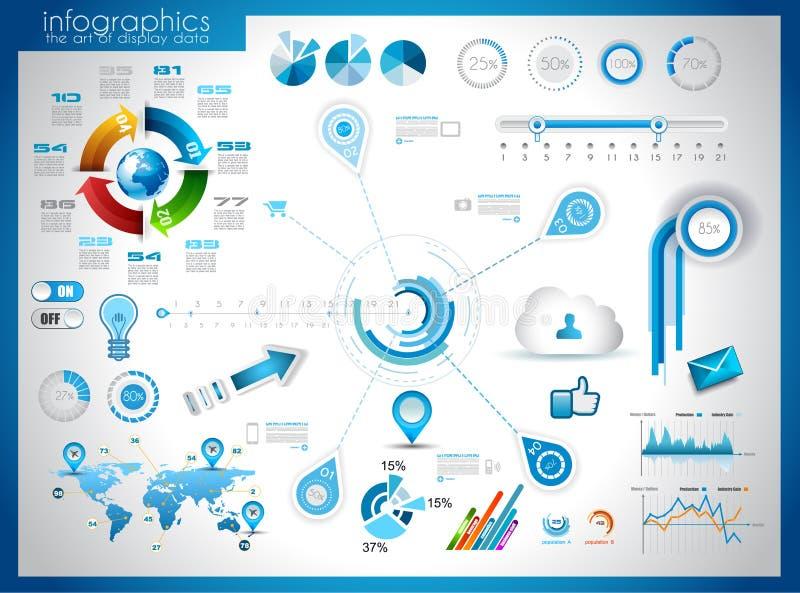 Éléments d'Infographic - ensemble d'étiquettes de papier, illustration libre de droits