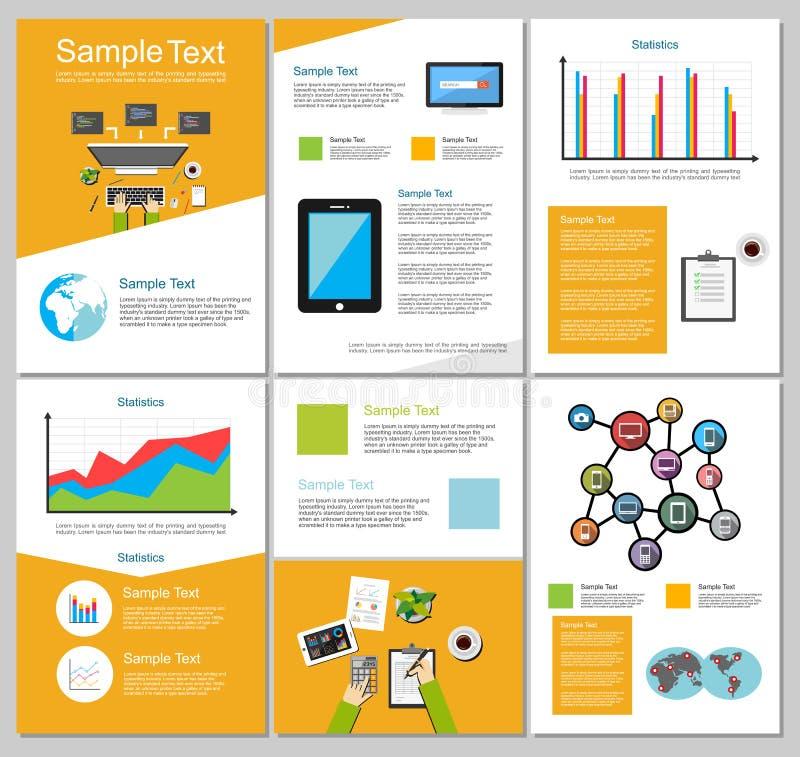 Éléments d'Infographic Fond d'affaires ou de technologie Calibres de brochure illustration stock