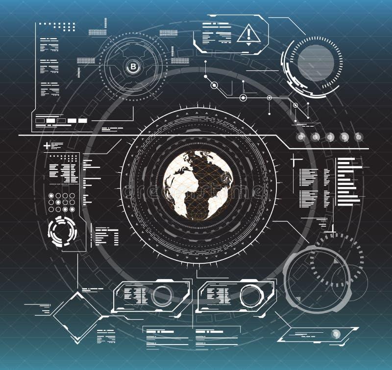 Éléments d'Infographic Éléments graphiques à lecture tête haute pour le Web et l'APP Interface utilisateurs futuriste Graphique v illustration libre de droits