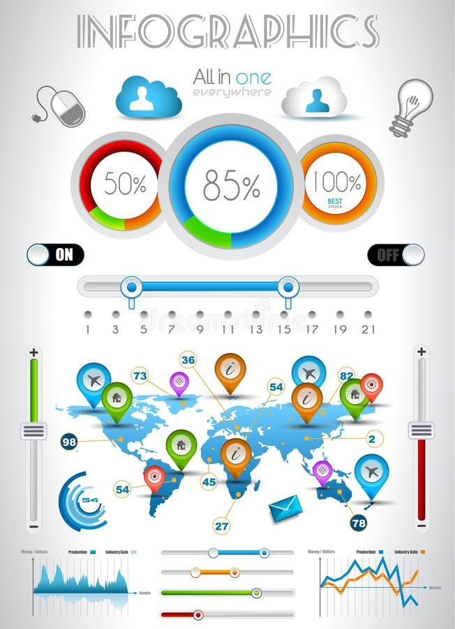 Éléments d'Infographic - positionnement de qualité illustration libre de droits
