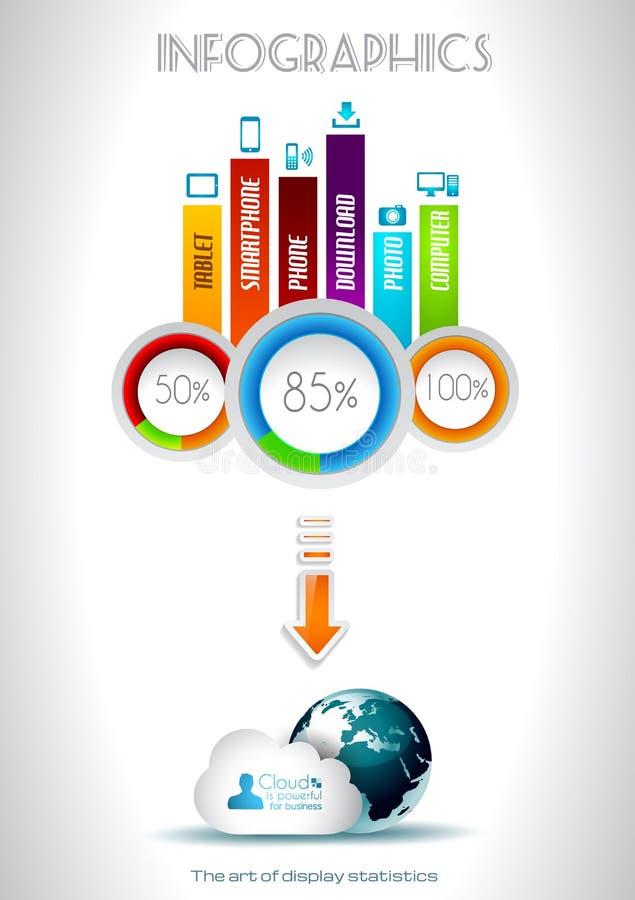 Éléments d'Infographic - positionnement de qualité illustration stock