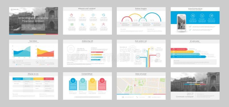 Éléments d'Infographic pour des calibres de présentation illustration de vecteur