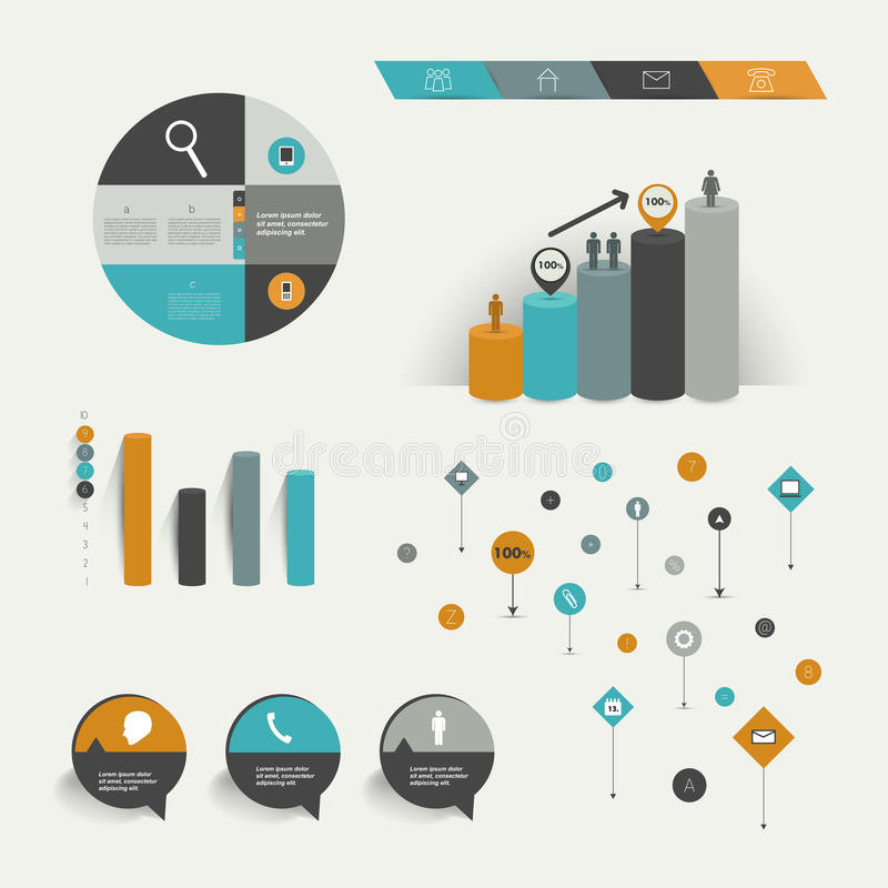 Éléments d'Infographics. illustration libre de droits