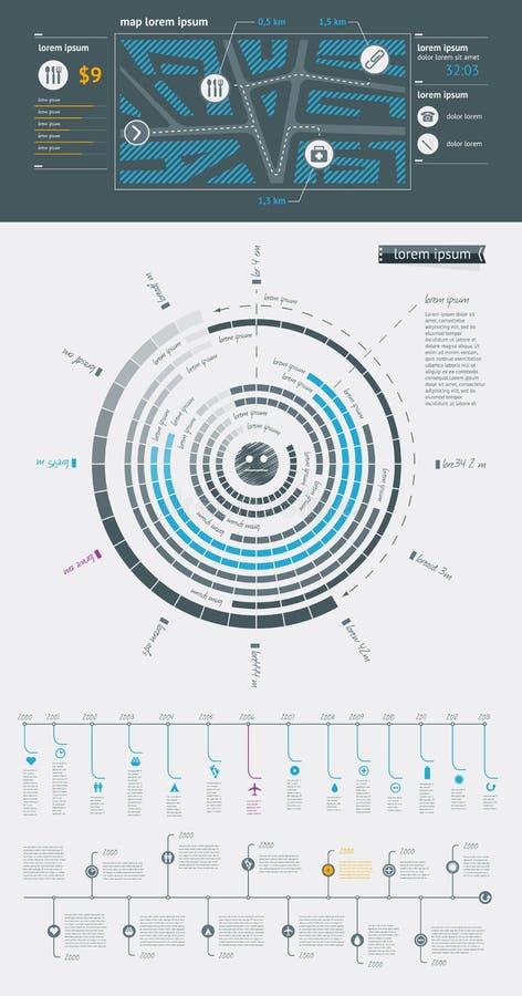 Éléments d'Infographics avec des boutons illustration stock