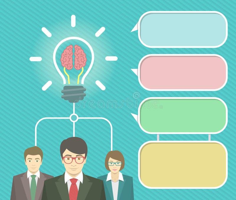 Éléments d'Infographics d'idée d'affaires illustration libre de droits