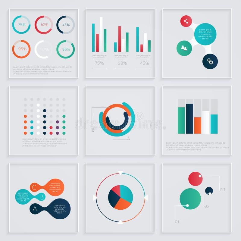 éléments d'infographics dans le style plat moderne d'affaires illustration stock