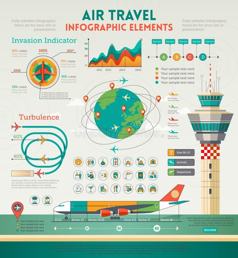Éléments d'Infographics de transports aériens illustration libre de droits