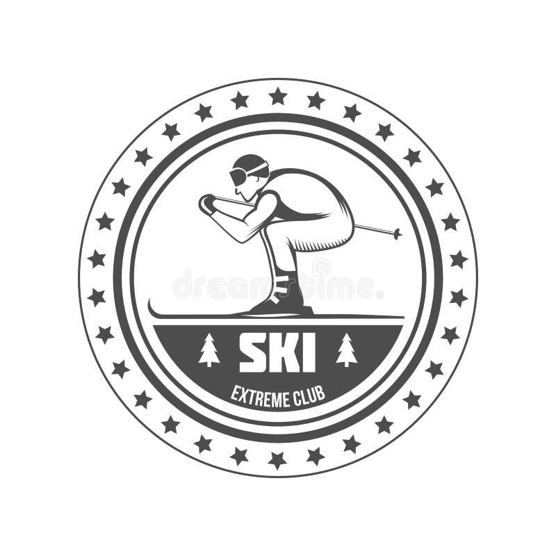 Download Éléments D'insigne Et De Conception De Label De Ski De Vintage Illustration de Vecteur - Illustration du nordique, loge: 87708940