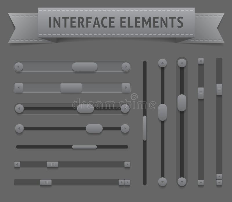 Éléments d'interface utilisateurs illustration stock