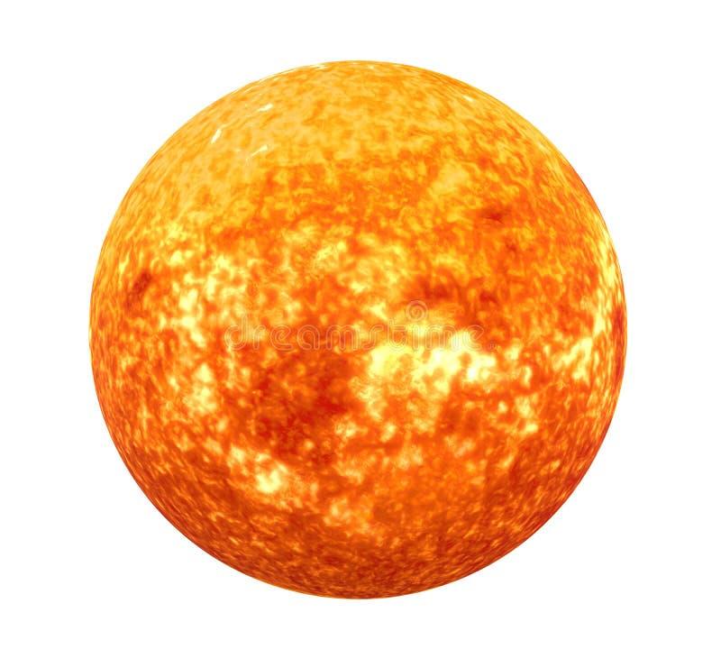 Éléments d'isolement de système solaire de Sun de cette image meublés par la NASA illustration stock