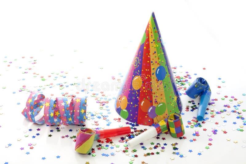 Éléments d'an neuf d'anniversaire de réception photographie stock