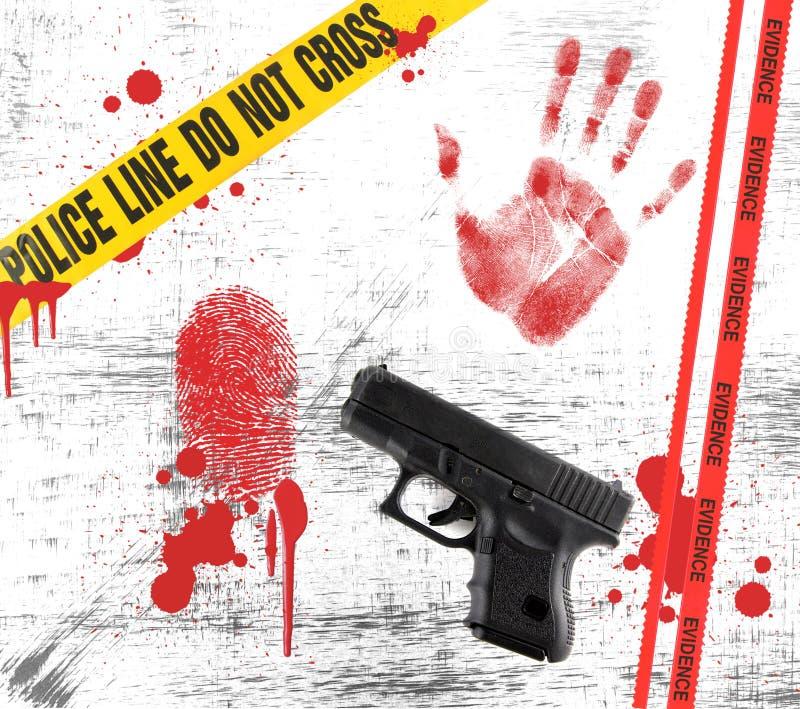 Éléments d'un crime dans la grunge illustration stock