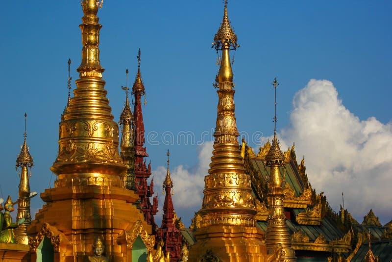 Éléments d'une pagoda antique image libre de droits